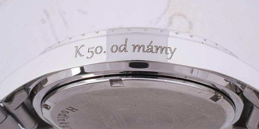 5ab4a3c07a3 Vyrytí věnování na hodinky (Gravírování hodinek)