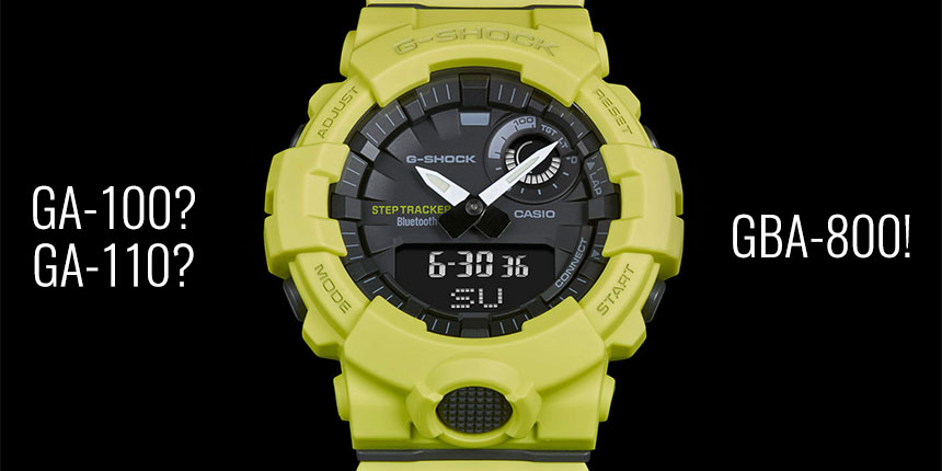 Casio G-Shock GBA-800 vs GA-100 59f29f2286d