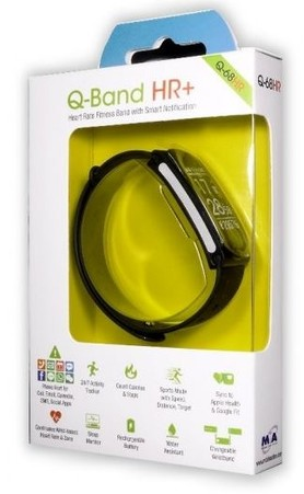 2910e3c562f Aligator Bluetooth Smart fitness náramek Q-Band černý Q-68HR ...