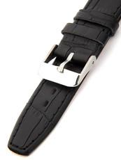 Dámský kožený černý řemínek k hodinkám 3322-A e2470e893de