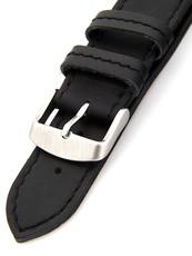 Unisex kožený černý řemínek k hodinkám H-5-A 78592cd0826