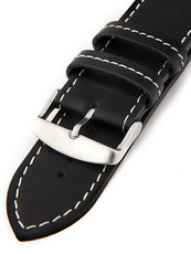 faab8ddf7e Unisex kožený černý řemínek k hodinkám H-5-B