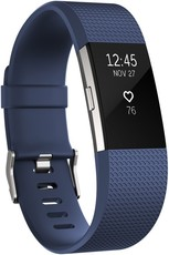 Fitbit Charge 2 Blue Silver - Large FB407SBUL-EU