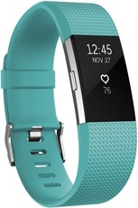 Fitbit Charge 2 Teal Silver  - Large FB407STEL-EU