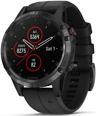 Garmin Fenix 5 Plus Sapphire Black, Black Band, Performer TRI Bundle
