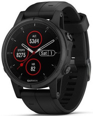 Garmin Fenix 5S Plus Sapphire Black, Black Band Performer TRI Bundle