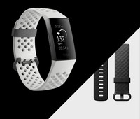 Fitbit Charge 3 Special Edition (NFC) - Graphite / White Silicone FB410GMWT-EU