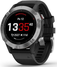 Garmin Fenix 6 Glass, Silver/Black Band