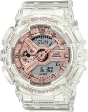 Casio G-Shock Original GMA-S110SR-7AER S Series Transparent x Pink Gold Collection