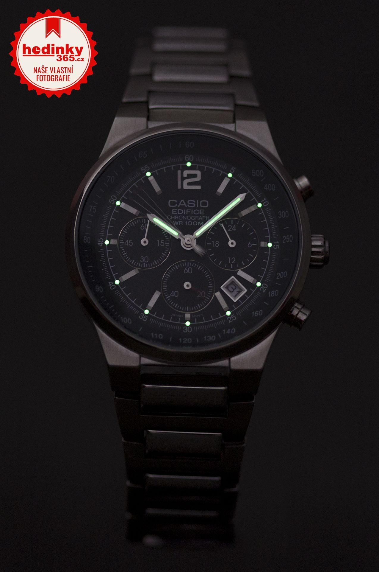 Casio Edifice EF-500D-1AVEF. Pánské hodinky - ocelový řemínek e8ac2dc8a9
