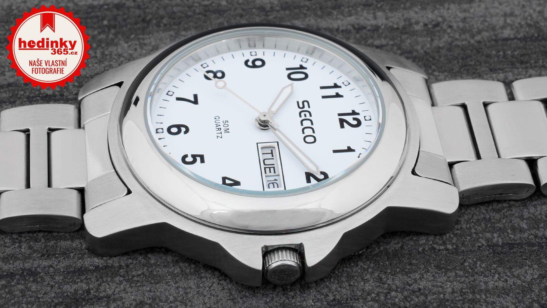 cbd785a05 Pánské hodinky - ocelový řemínek, ocel pouzdro, minerální sklíčko. Veškeré  technické parametry naleznete níže