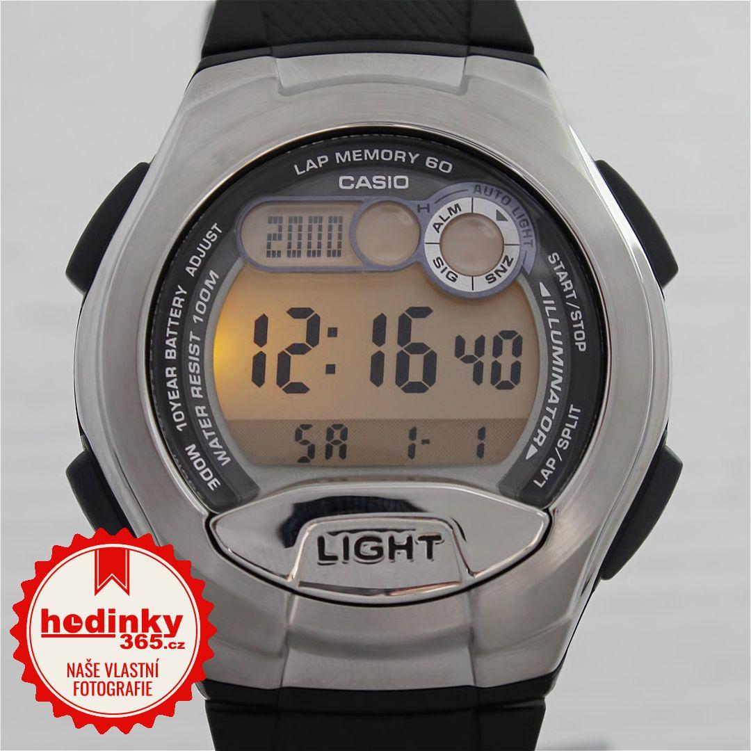 Casio Collection W-752-1AVES. Pánské hodinky - pryskyřicový řemínek 1de3bc3508