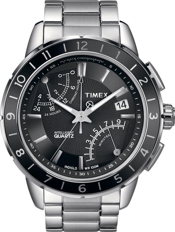 Timex Intelligent Quartz T2N498. Pánské hodinky - ocelový řemínek ce5954612dd