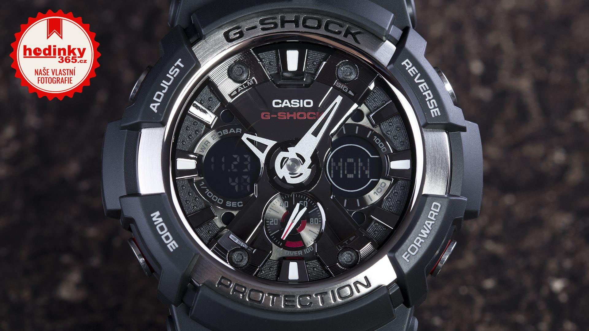 Casio G-Shock Original GA-200-1AER. Pánské hodinky - pryskyřicový řemínek 37e1b6c33b5