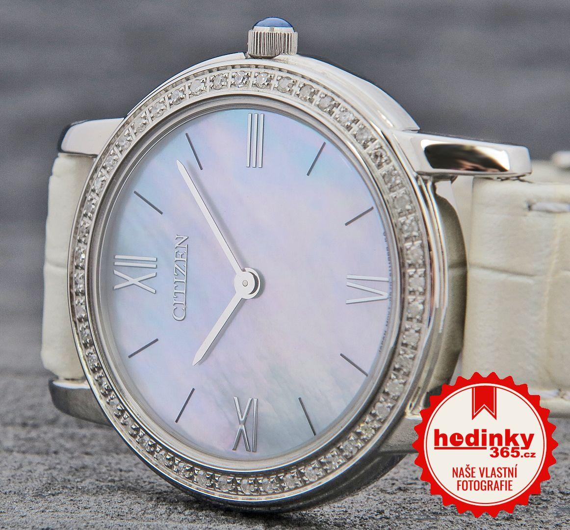 Citizen Elegance Eco-Drive EG3200-12D. Dámské hodinky - kožený řemínek 9d2786805c2