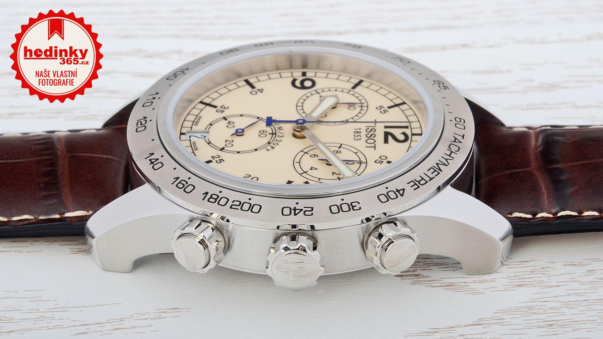 5a57c8cfe2b Tissot V8 T36.1.316.72. Pánské hodinky - kožený řemínek