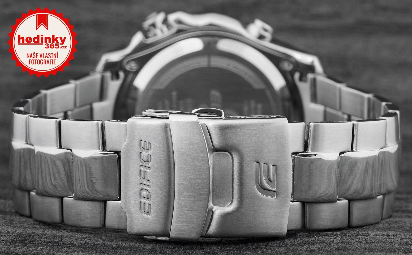 Casio Edifice EMA-100D-1A2VEF. Pánské hodinky - ocelový řemínek 75dcc4a3c8b
