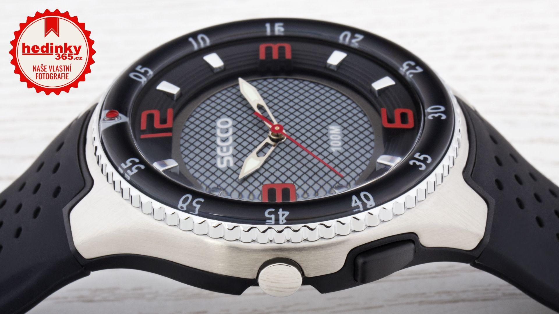 Secco S DQK-007. Pánské hodinky - silikonový řemínek f2442d0de2a