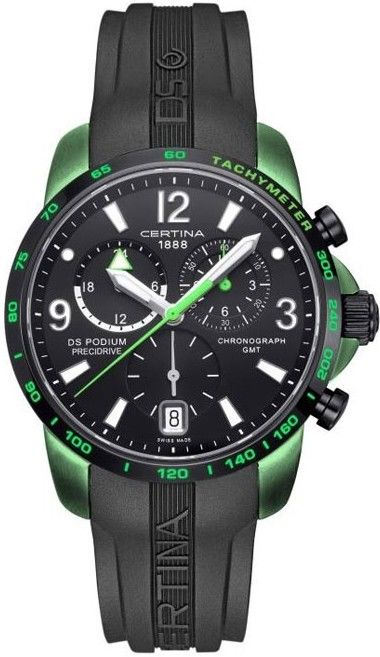 Certina DS Podium Chronograph GMT Aluminium Quartz C001.639.97.057.03