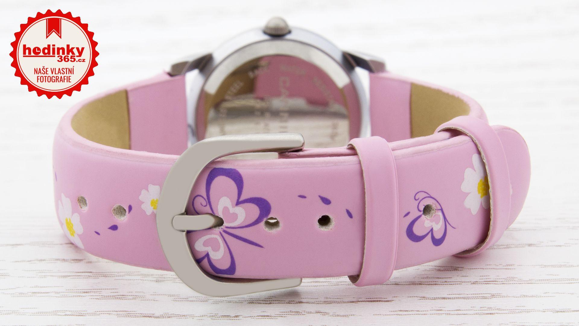 Dívčí hodinky - koženkový řemínek e0ae2df9a9