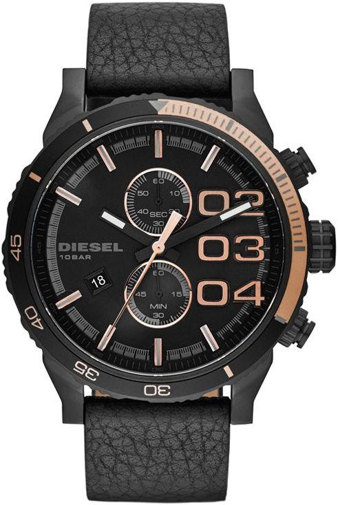 Diesel Double Down DZ 4327. Pánské hodinky - kožený řemínek 226227c791