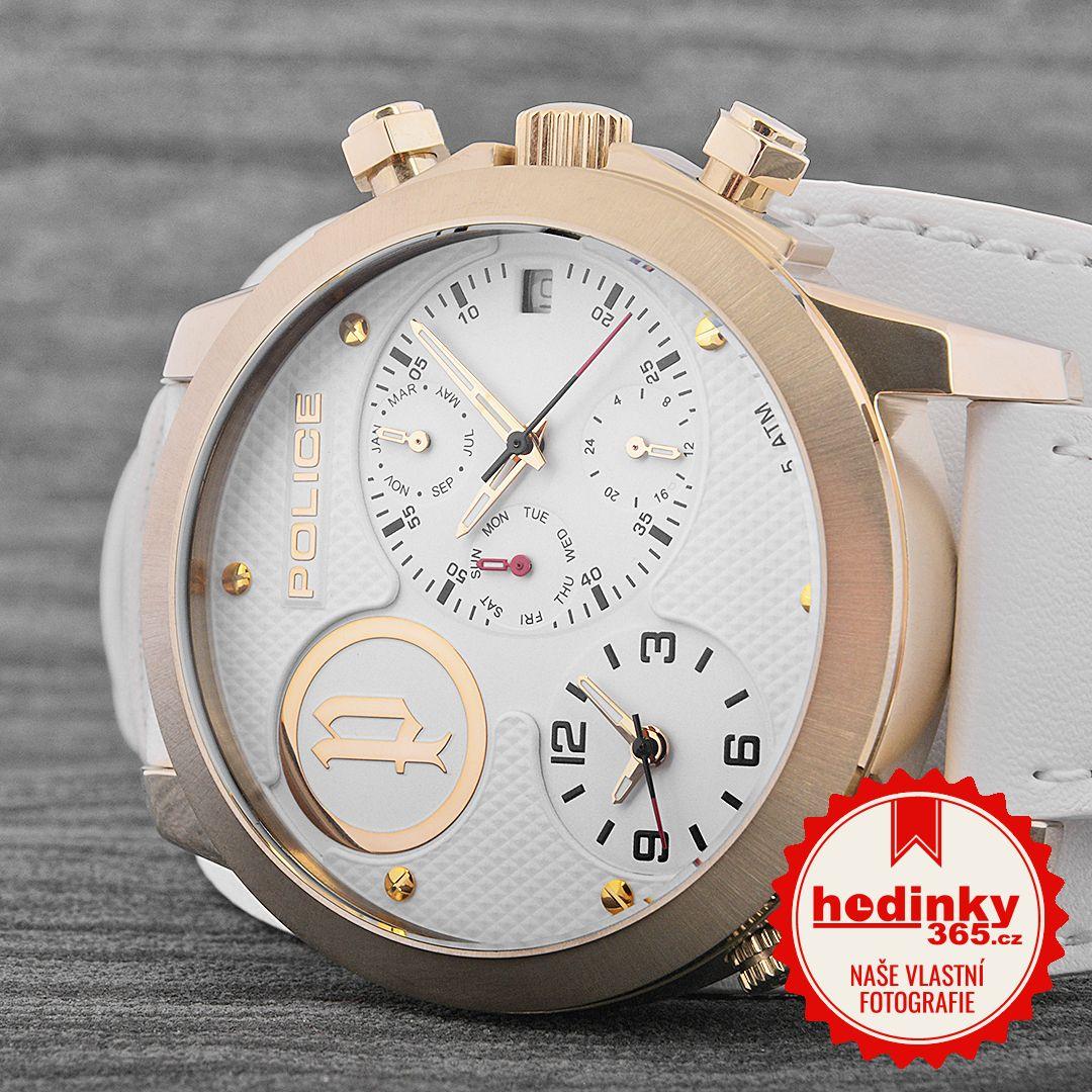 c5cb15d244 Police Anaconda PL14188JSG 01. Pánské hodinky - kožený řemínek