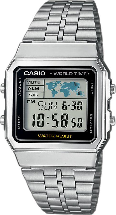 Casio Collection Retro A500WEA-1EF. Pánské hodinky - ocelový řemínek da2fc50eb8