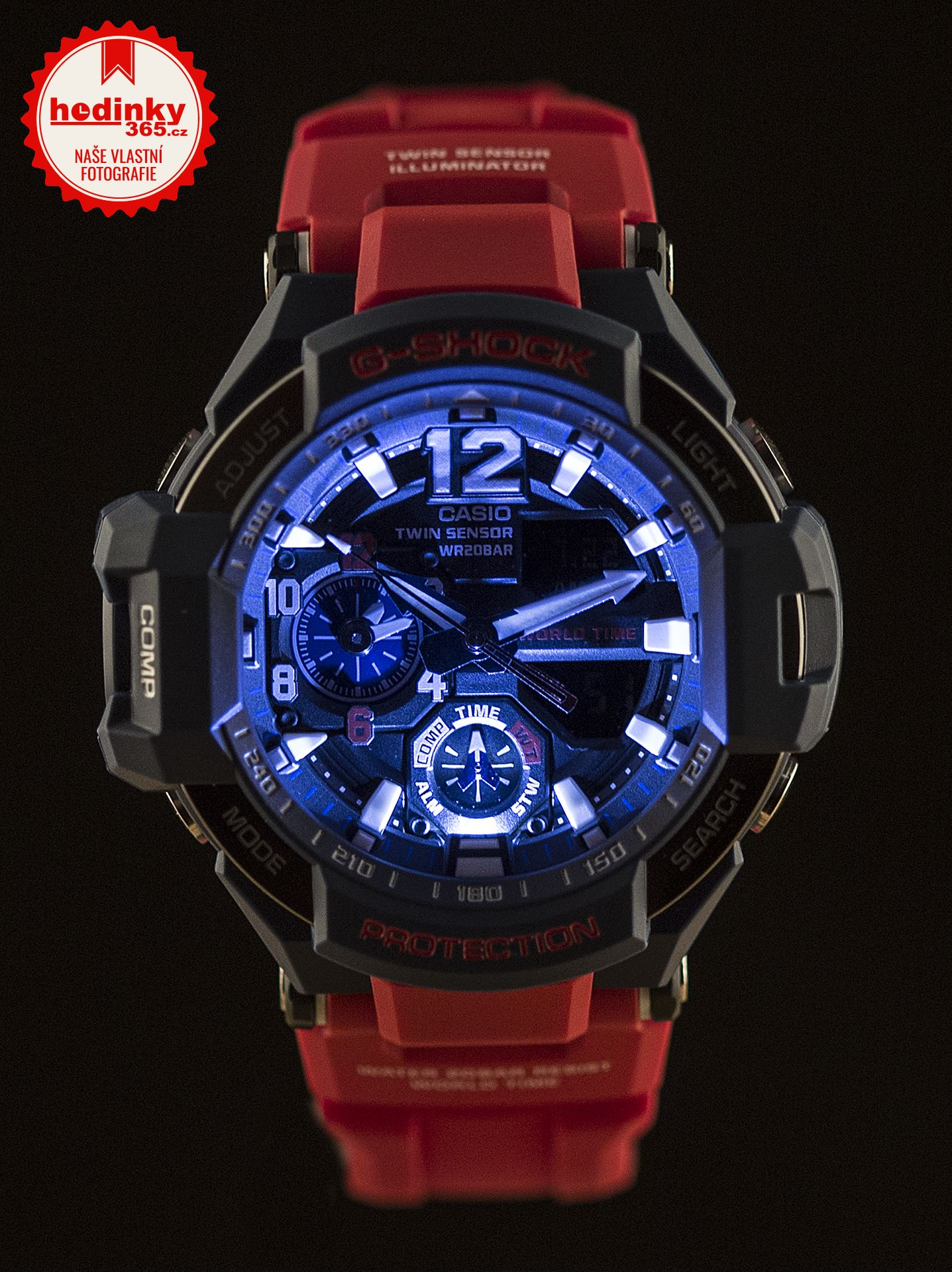 Casio G-Shock Gravitymaster GA-1100-2AER. Pánské hodinky - pryskyřicový  řemínek ba4c267e41