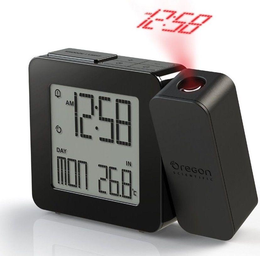 Digitální budík s projekcí času a vnitřní teploty RM338PBK PROJI