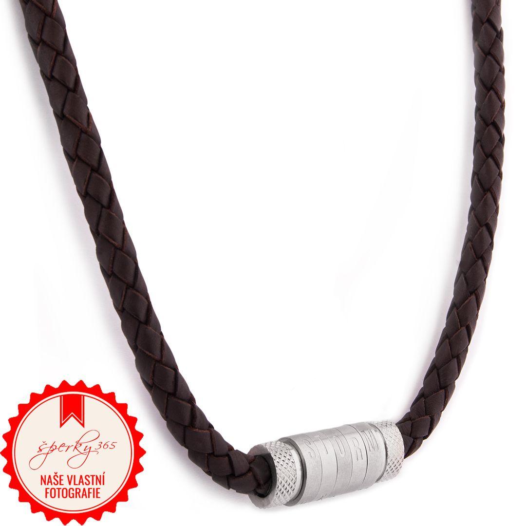 Pánský kožený náhrdelník Storm Quin Necklace Brown. 1ks skladem Doručíme do  středy 20.3. více o doručení a dopravě 060bf833a41