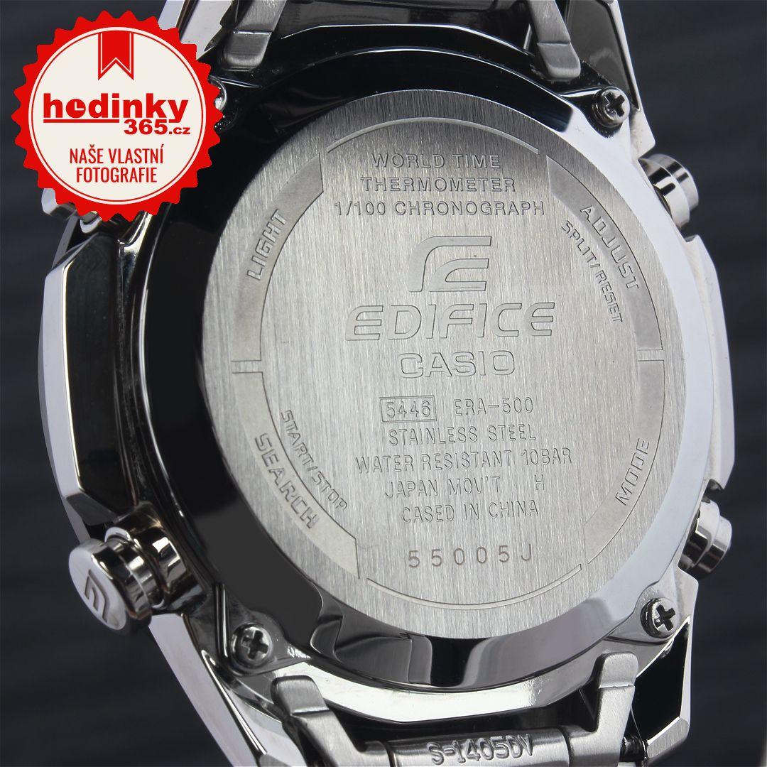 Casio Edifice ERA-500DB-1AER. Pánské hodinky - ocelový řemínek b52a2f8e7d2