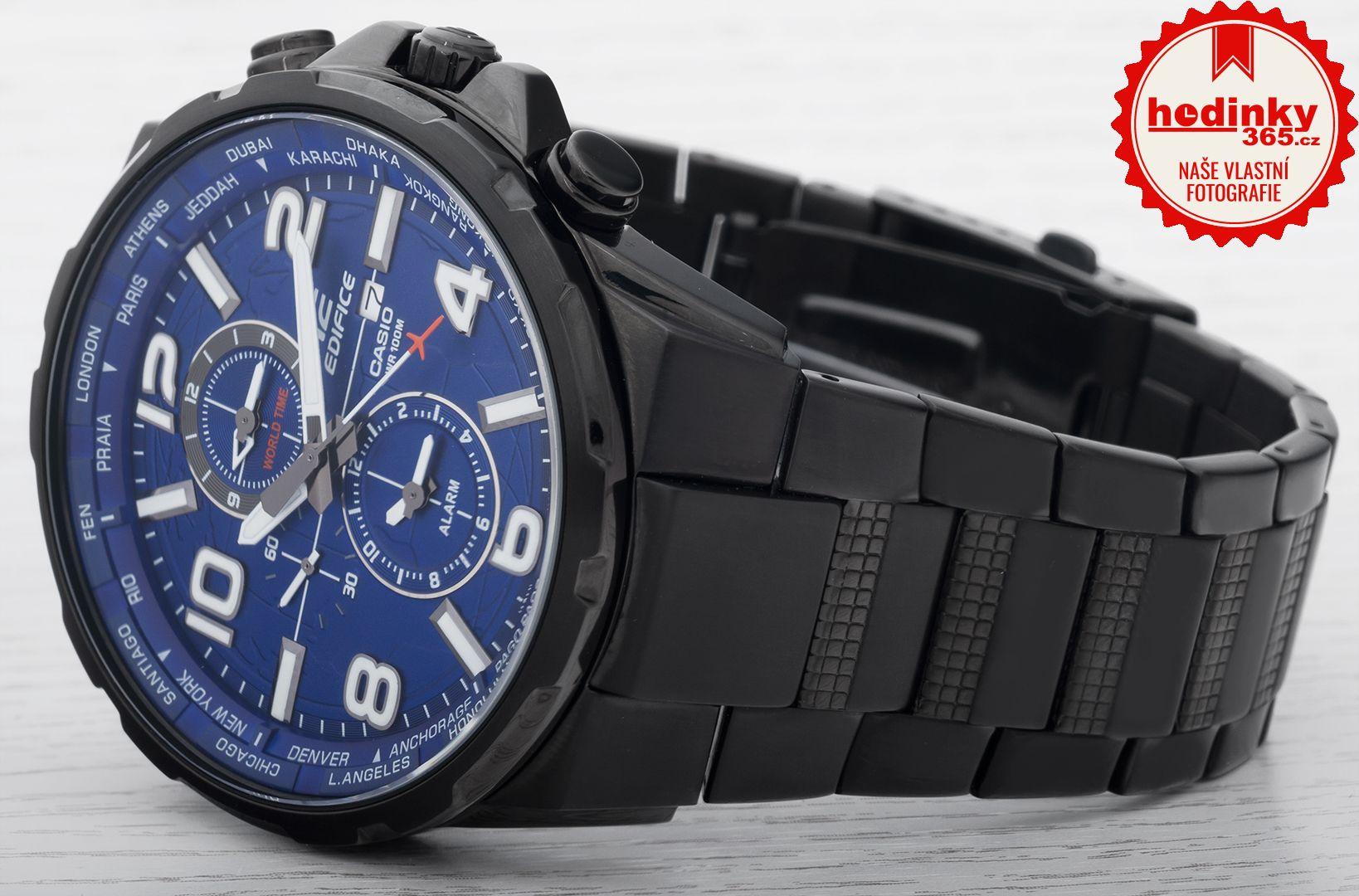 Casio Edifice EFR-302BK-2AVUEF. Pánské hodinky - ocelový řemínek 48765b9172b