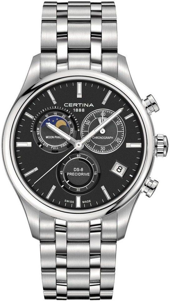 9e32036f8c Hodinky Certina DS-8 Quartz Chronograph Moon Phase Quartz C033.450.11.051.00