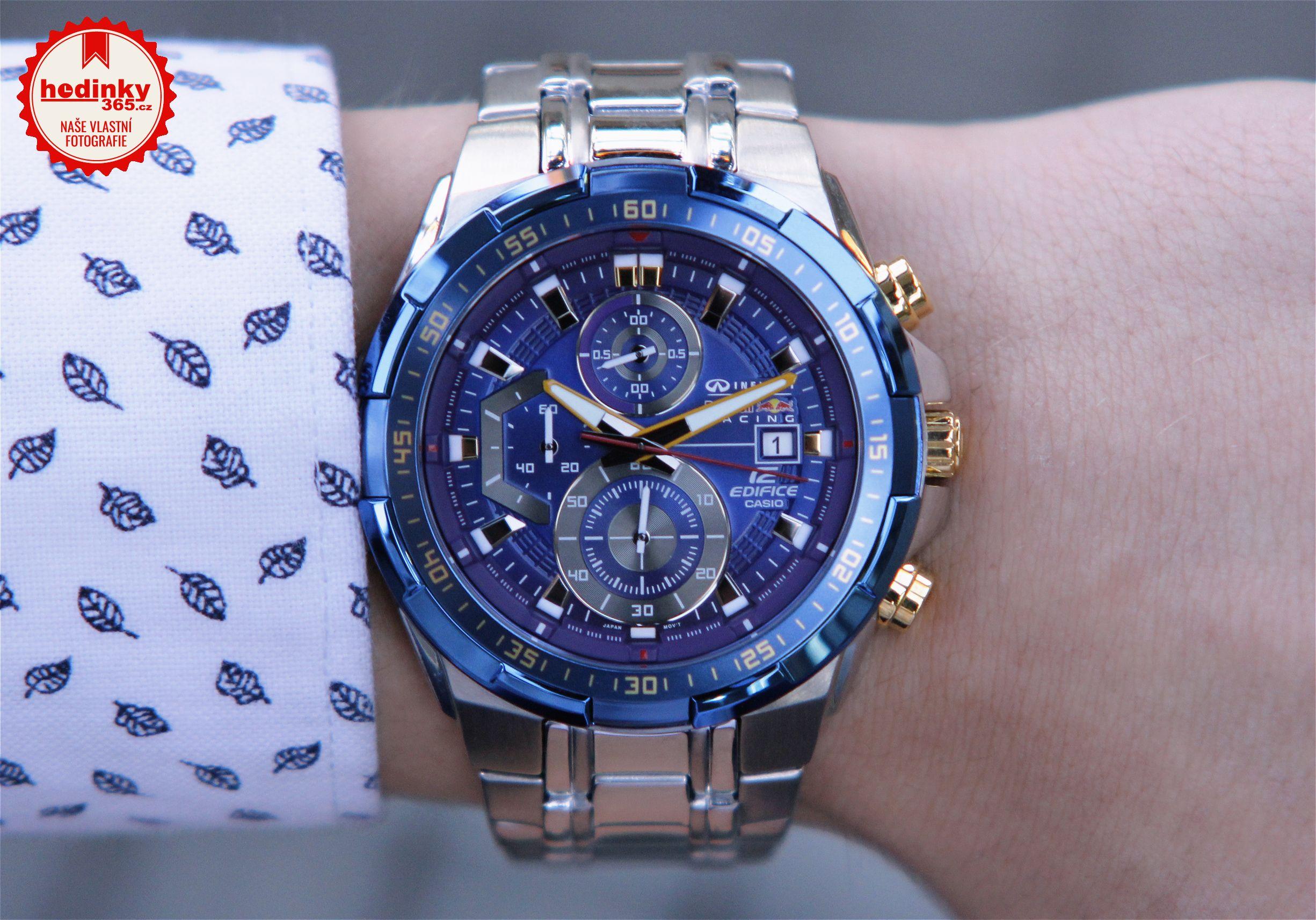 Casio Edifice EFR-539RB-2AER Infiniti Red Bull Racing Limited Edition. Pánské  hodinky - ocelový řemínek 143ae56f39
