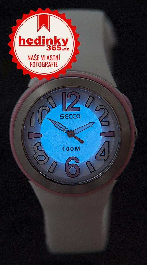 Secco S DPPA-001. Dámské hodinky - silikonový řemínek af0fad61a9