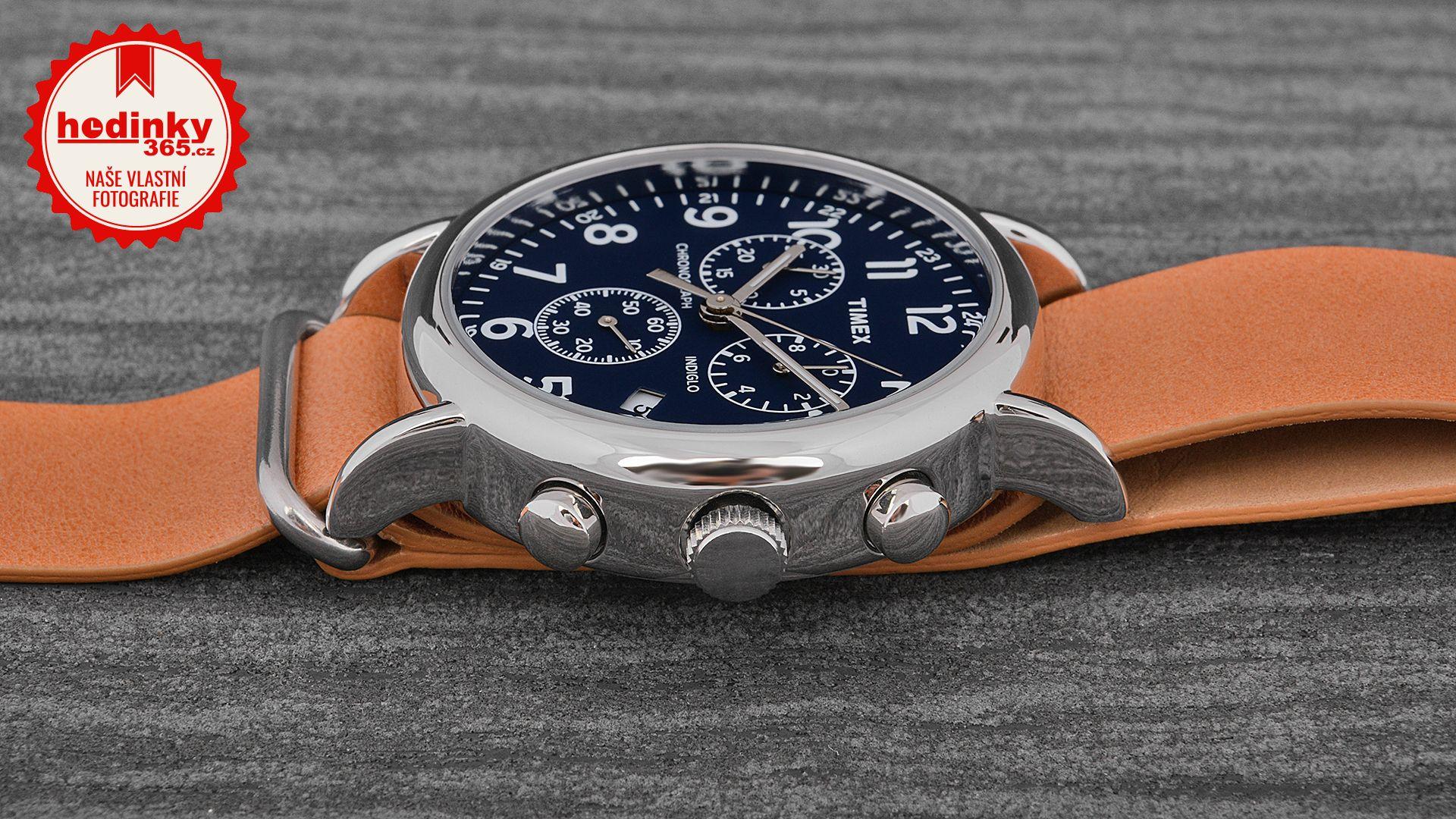 Unisex hodinky - kožený řemínek 8ddcb2caab9
