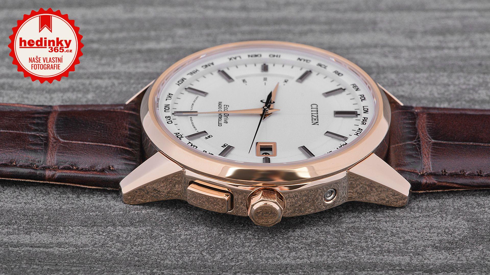 Citizen Radio Controlled CB0153-21A. Pánské hodinky - kožený řemínek a3d19819562
