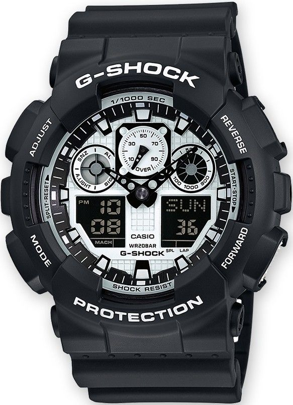 Casio G-Shock Original GA-100BW-1AER  58710fe836