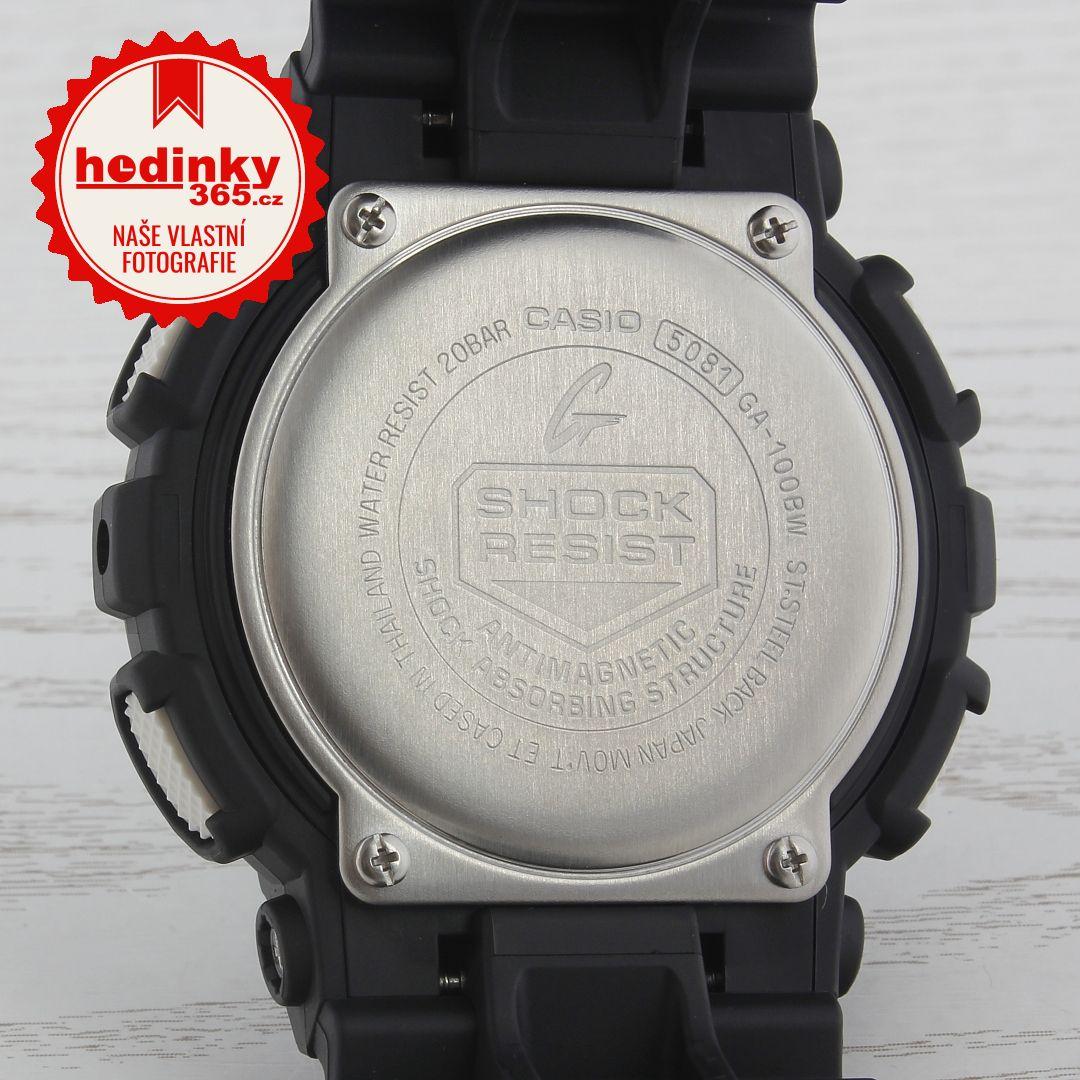 Hodinky Casio G-Shock Original GA-100BW-1AER 2e812accf3