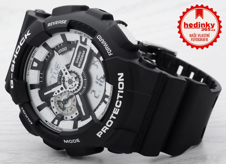 Casio G-Shock Original GA-110BW-1AER. Pánské hodinky - pryskyřicový  řemínek 55c5b41d9f