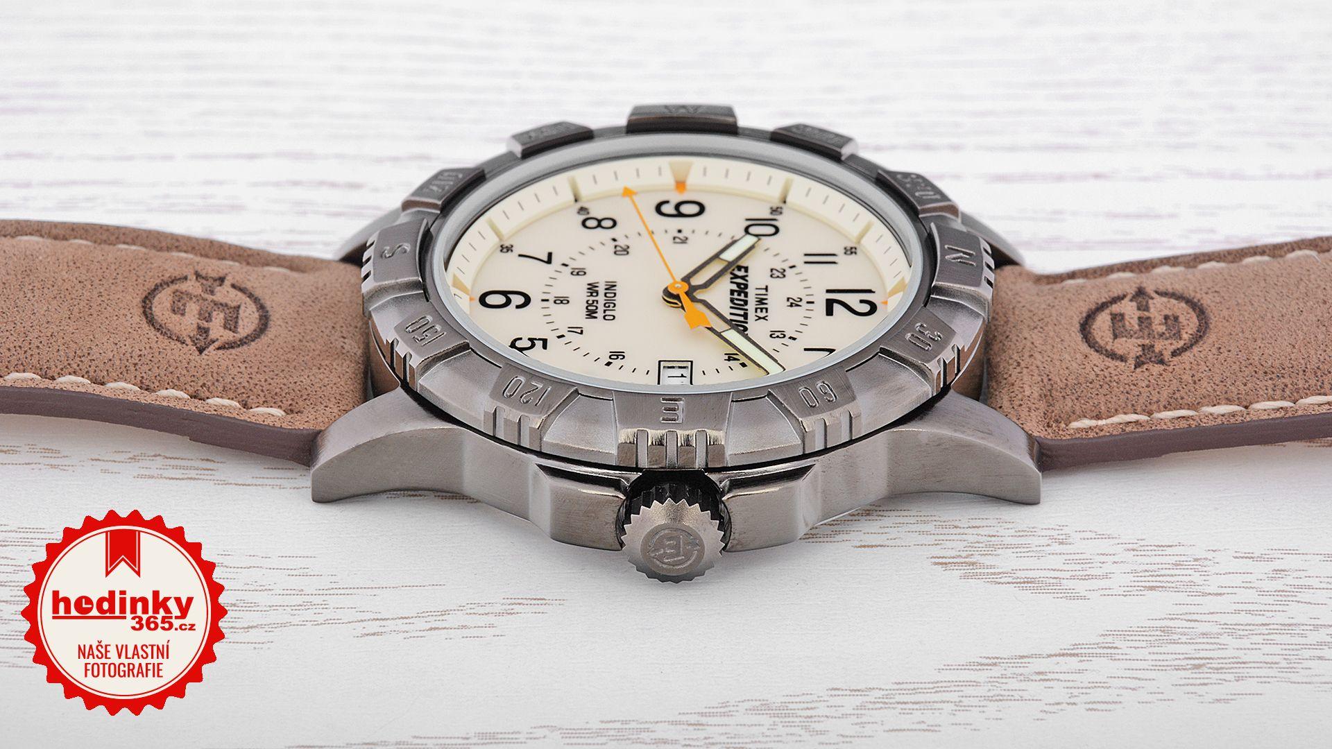 Timex Expedition T49990. Pánské hodinky - kožený řemínek 411206a2840