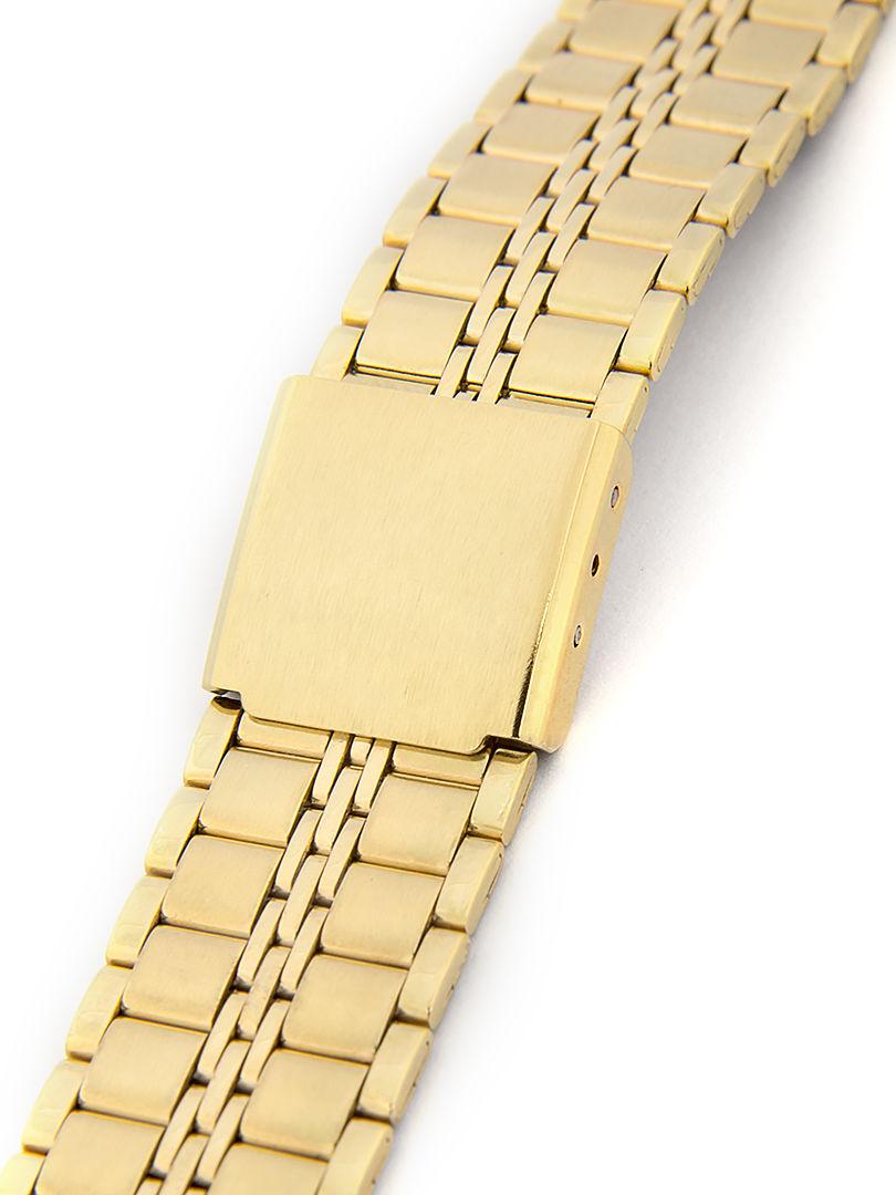 Dámský kovový zlatý náramek na hodinky AU-095 18 mm