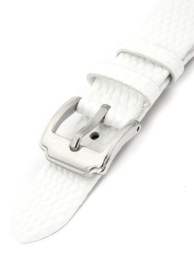 Dámský kožený bílý řemínek k hodinkám HYP-02-WHITE