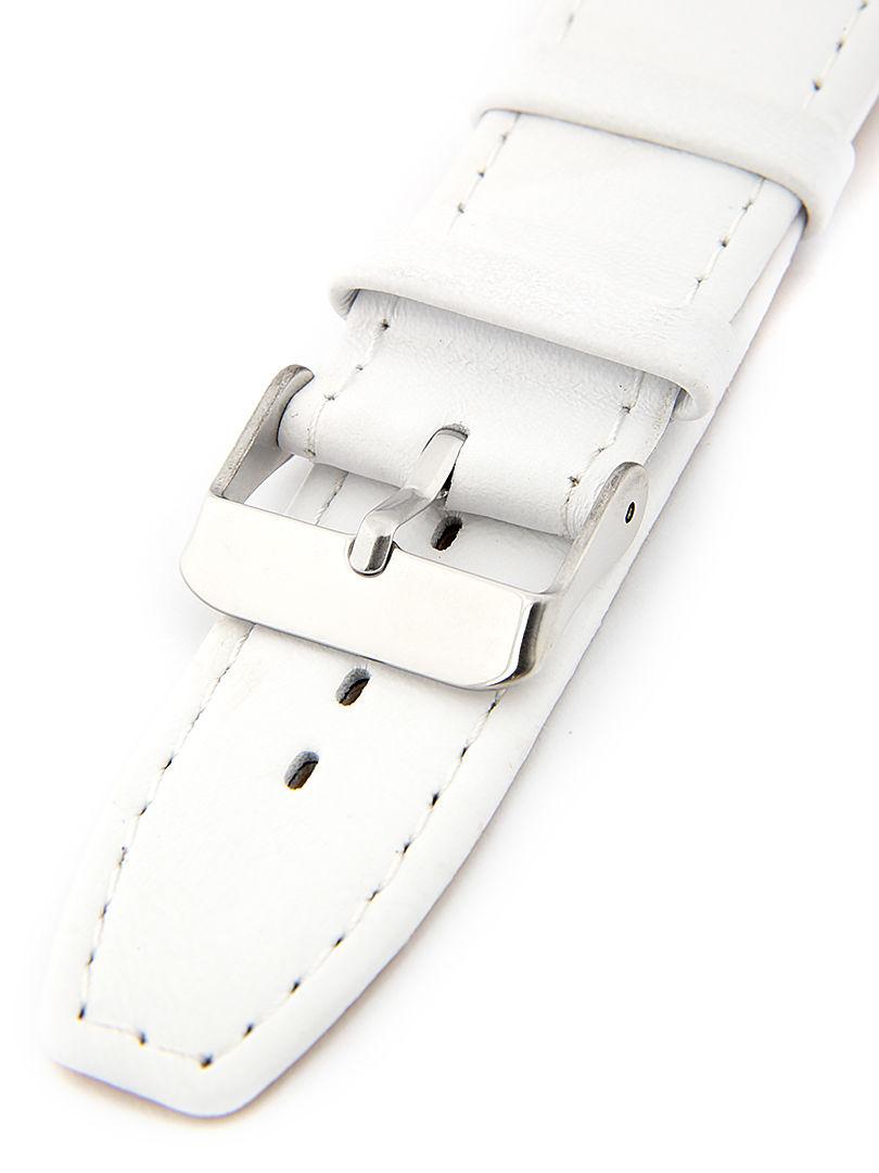 Dámský kožený bílý řemínek k hodinkám W-309-W