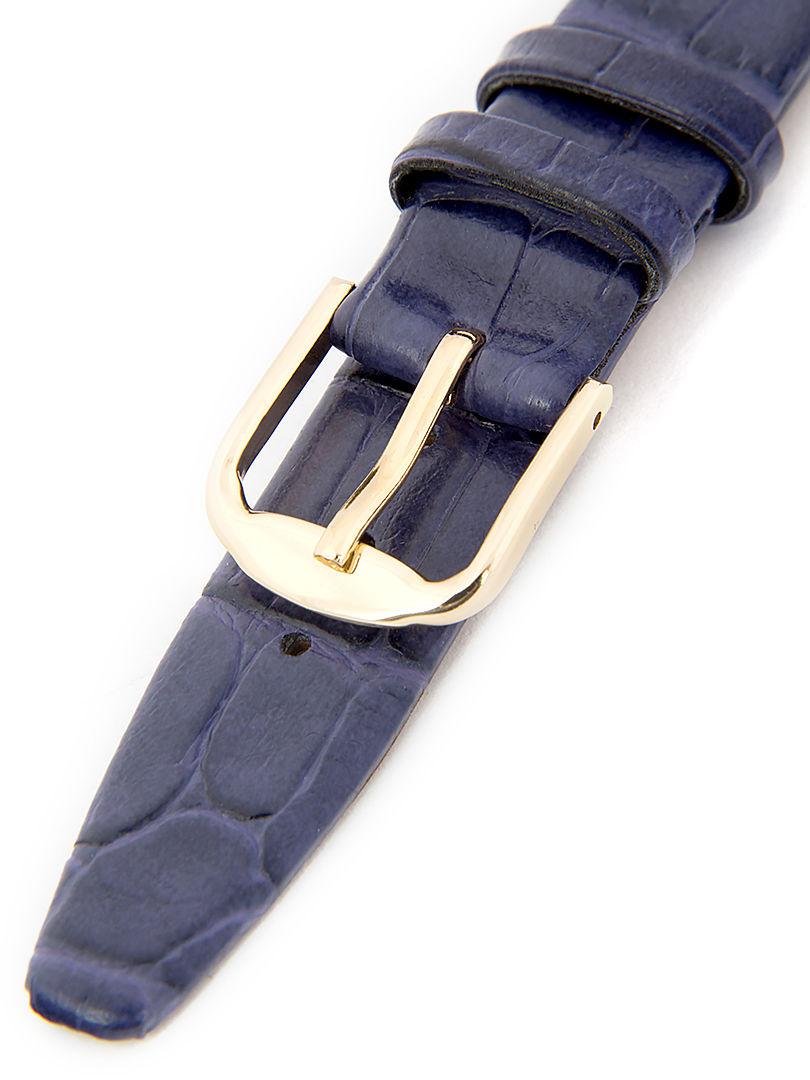 Dámský kožený fialový řemínek k hodinkám R-PU3