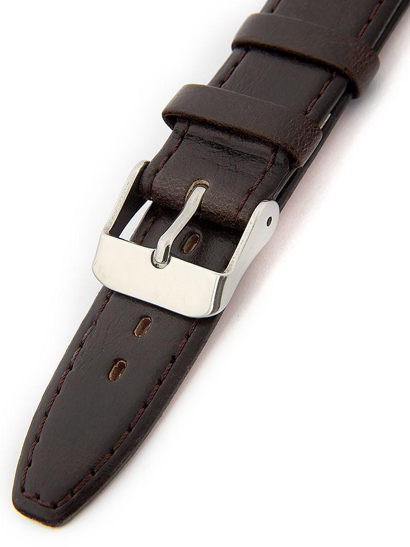 Dámský kožený hnědý řemínek k hodinkám W-309-G1