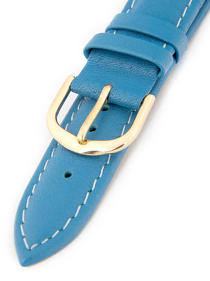 Dámský kožený modrý řemínek k hodinkám R1-BL1