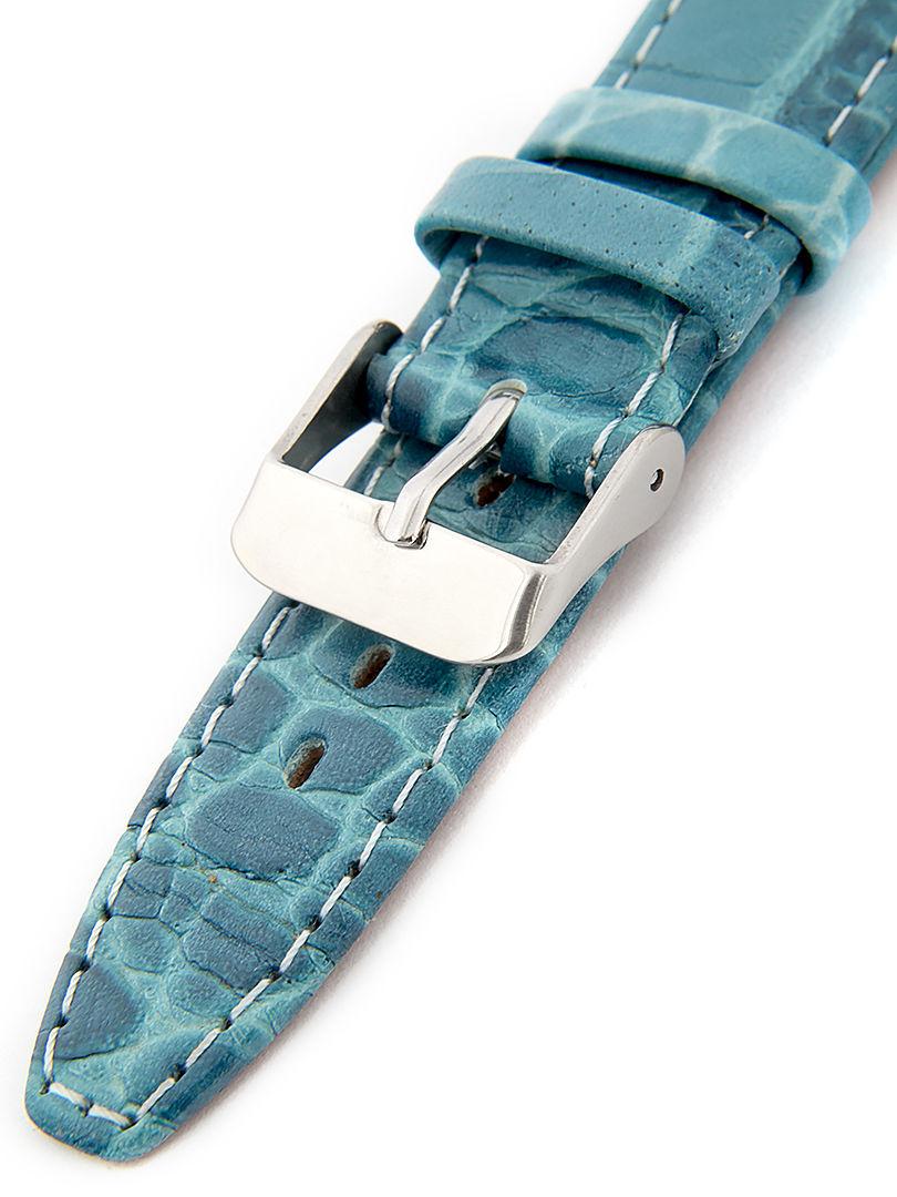 Dámský kožený modrý řemínek k hodinkám W-309-J2