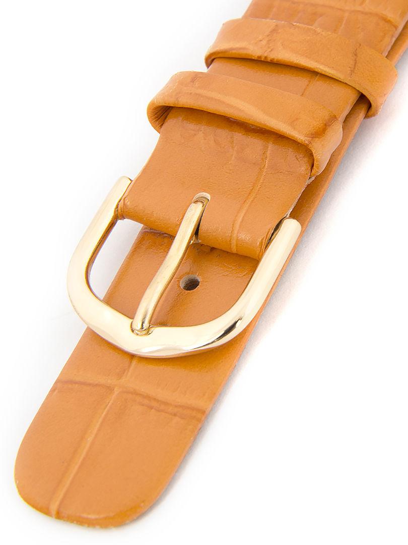 Dámský kožený oranžový řemínek k hodinkám W-414-D