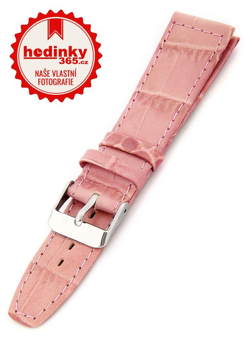 Dámský kožený růžový řemínek W-309-K